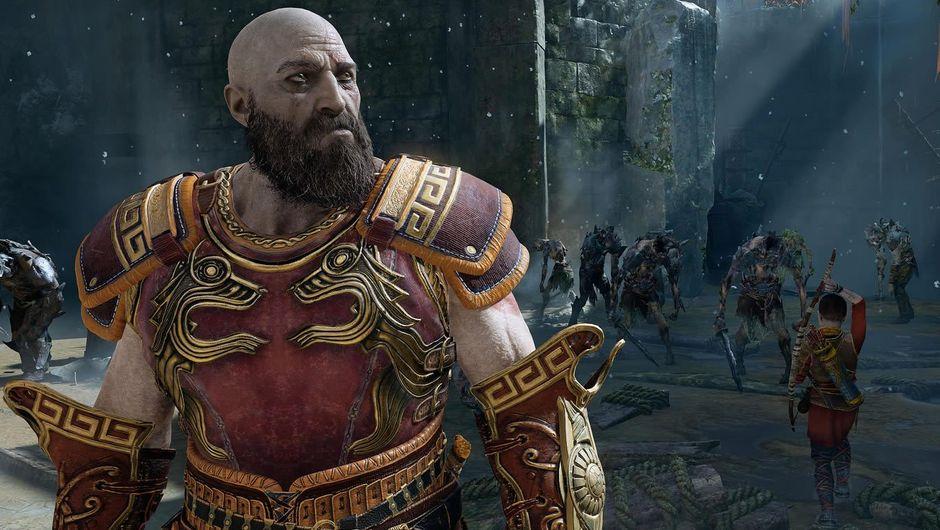 Kratos, protagonist of God of War looking away