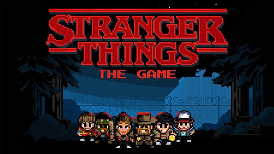 artwork from strangers things the game showing pixel characters