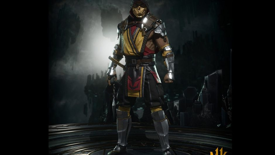 Picture of the Scorpion from NetherRealms' new Mortal Kombat game