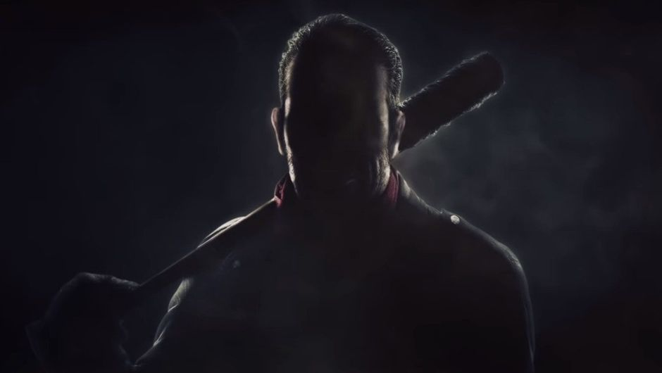Picture of Negan's silhouette from the upcoming Season 2 Pass in Tekken 7