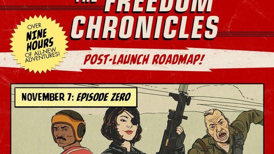 The Freedom Chronicles DLC post launch roadmap logo