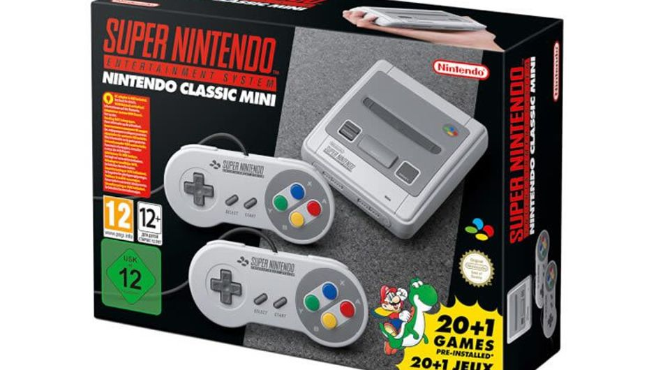 Official packaging for Nintendo's SNES Classic consoles