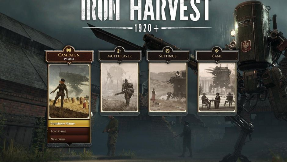 User interface of the game Iron Harvest