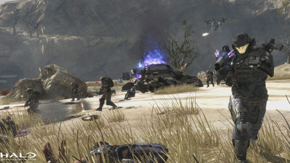 halo reach screenshot showing several characters in a battle