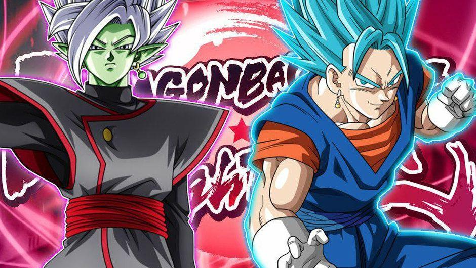 Super Saiyan Blue Vegito vs Fused Zamasu screen before the battle