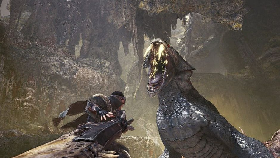 Picture of a player about to fight a giant monster in Monster Hunter World