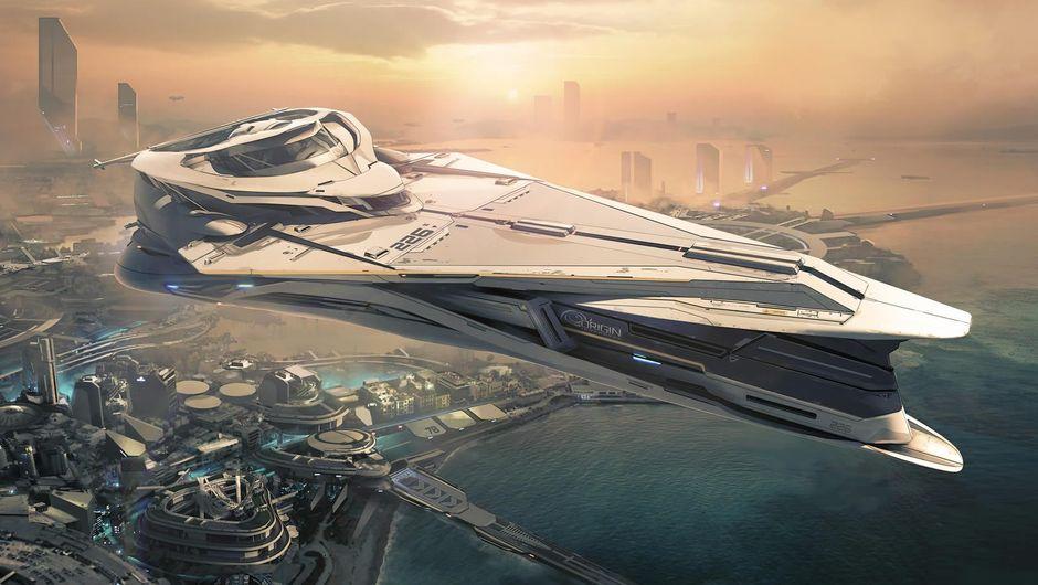 Star Citizen's luxury ship Origin Jumpworks 890 Jump