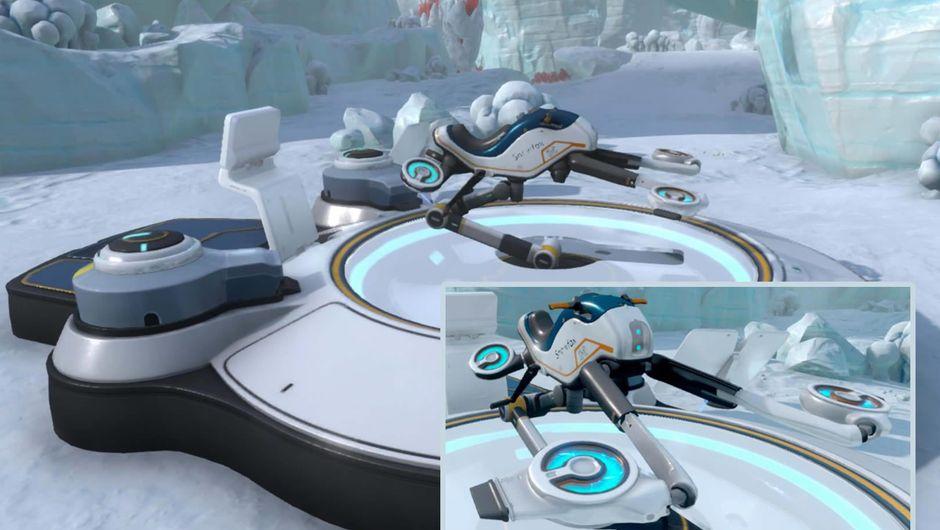 Subnautica: Below Zero, the Snowfox hoverbike