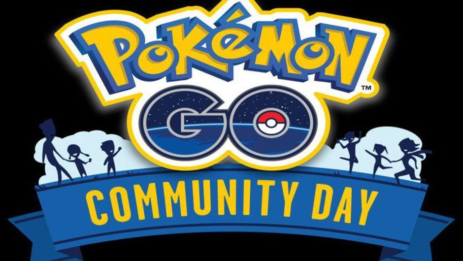 Pokemon Go Community Day promotional image on a black background.