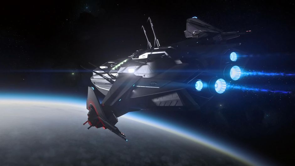 Anvil Carrack spacecraft from Star Citizen