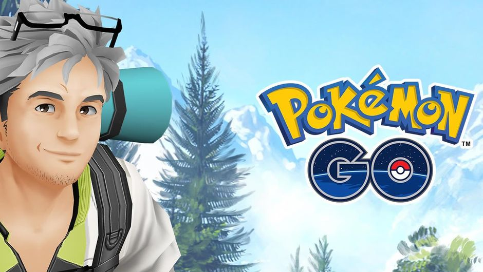 Pokemon GO, a trainer next to the game's logo