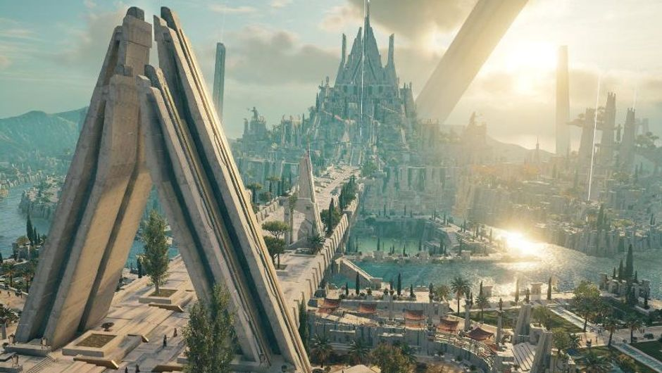 assassin's creed odyssey screenshot showing lost ruins