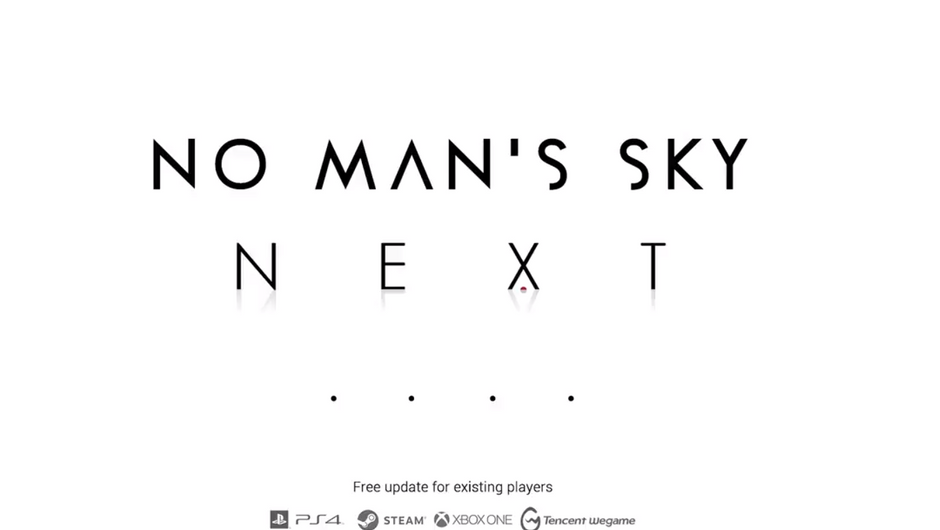 Promotional image for the upcoming update to No Man's Sky and subsequent Xbox One port.