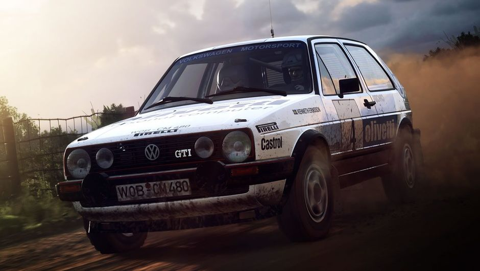 Legendary Golf GTI rally car from Dirt Rally 2.0 by Codemasters