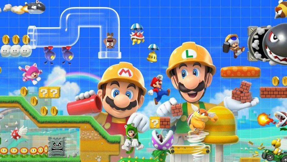 Picture of Super Mario Maker 2 in action