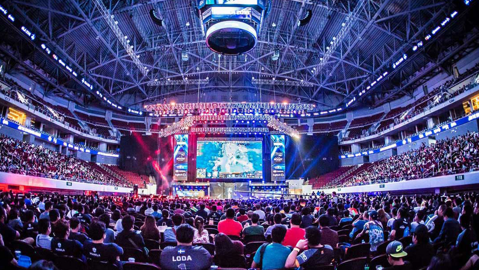 Esports arena filled with fans of League of Legends