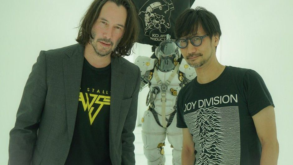 image showing keanu reeves and hideo kojima