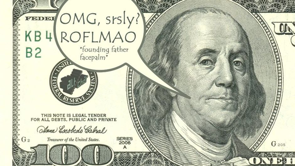 US hundred dollar bill note with picture of Benjamin Franklin