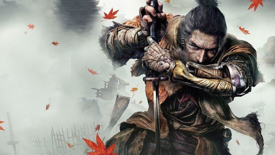Promo art from Sekiro showing a samurai holding his sword