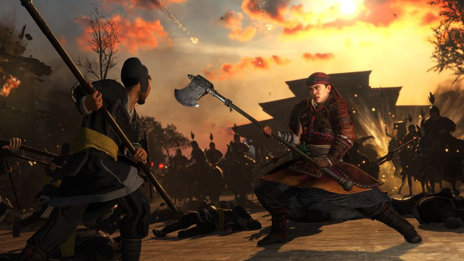 Total War: Three Kingdoms - Eight Princes screenshot showing two soliders fighting
