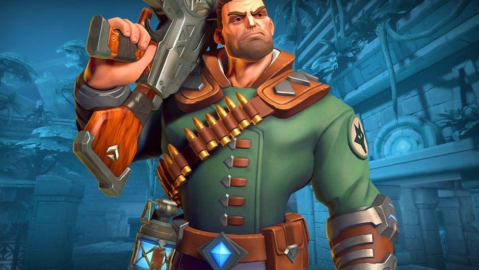 Splash art for Viktor in Hi-Rez Studios game Paladins