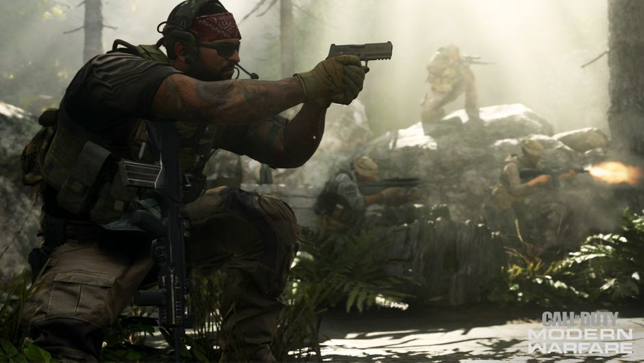 An action shot from Call of Duty: Modern Warfare.