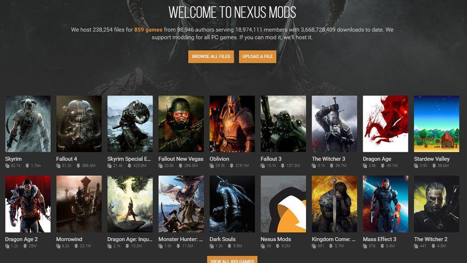 Nexus Mods front page