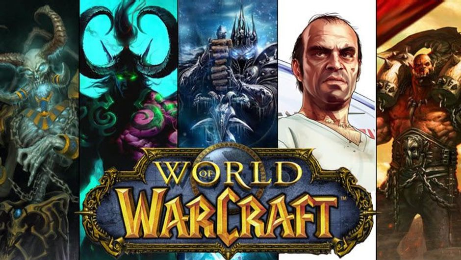 Characters from World of Warcraft and Trevor from GTA V