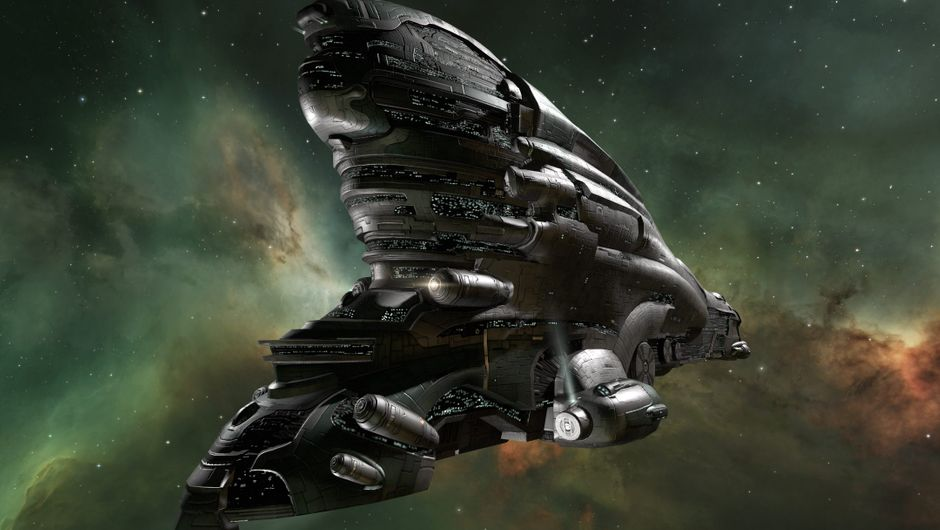Picture of a massive ship in EVE Online