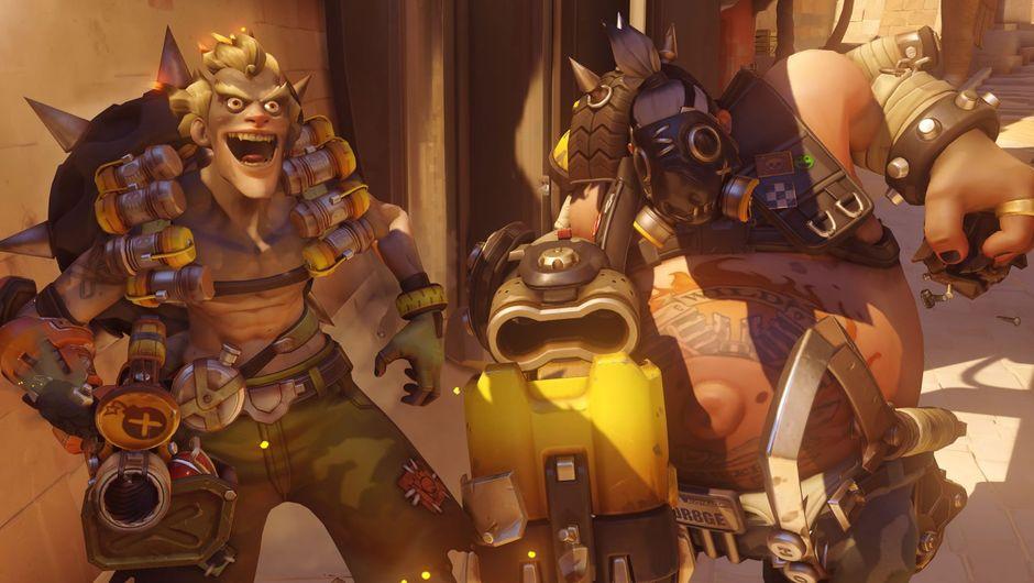 Overwatch characters Junkrat and Roadhog