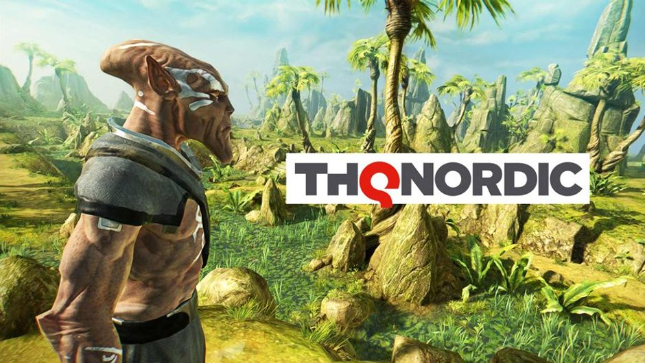 picture showing Outcast game and thq nordic logo