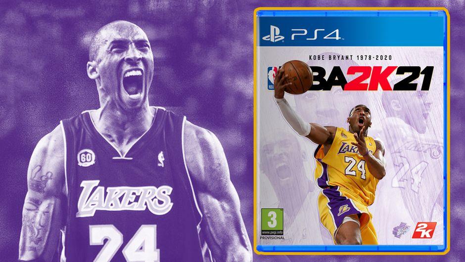 Kobe Bryant on the custom-made PS4 cover of NBA 2K21