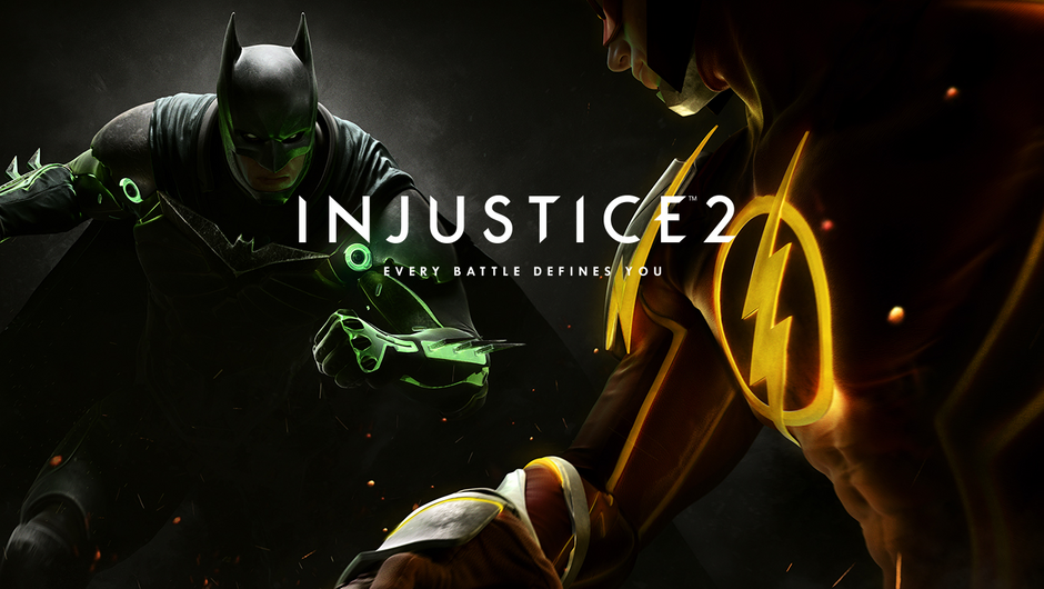 Poster for Warner Bros' Injustice 2, fighting game from DC Universe