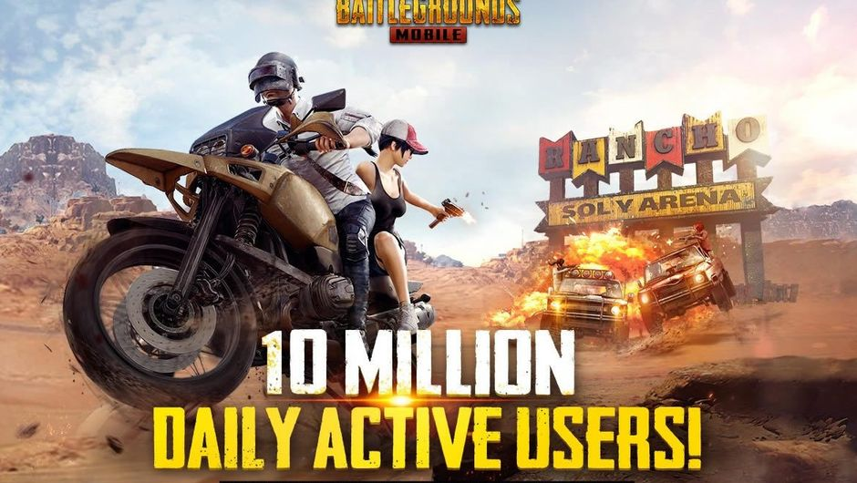 Image celebrating the milestone of 10 million users in PUBG Mobile