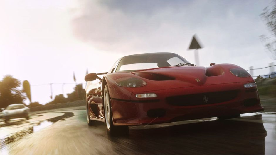 In-game screenshot of a Ferrari car in Driveclub.