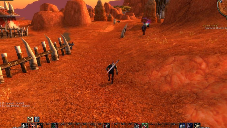 Picture of an Undead Warrior in WoW's Barrens