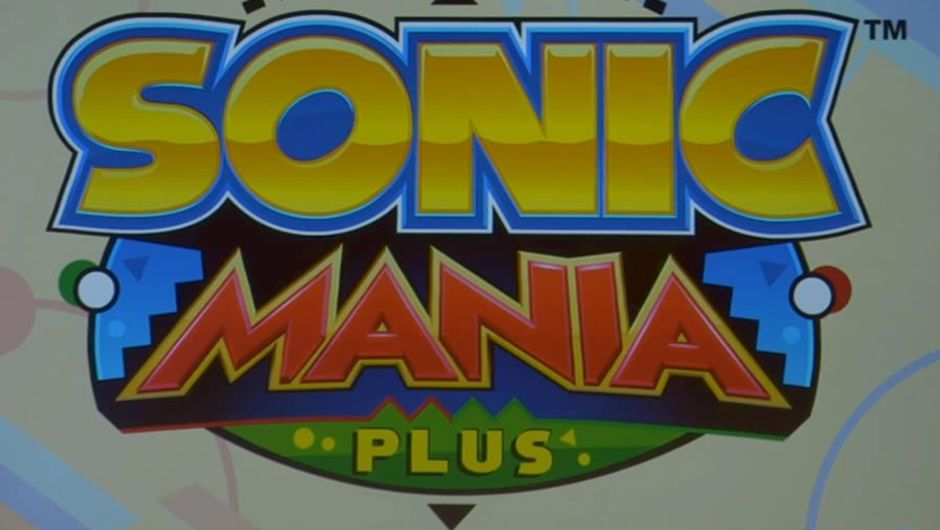 Logo for Sega's new Game Sonic Mania Plus