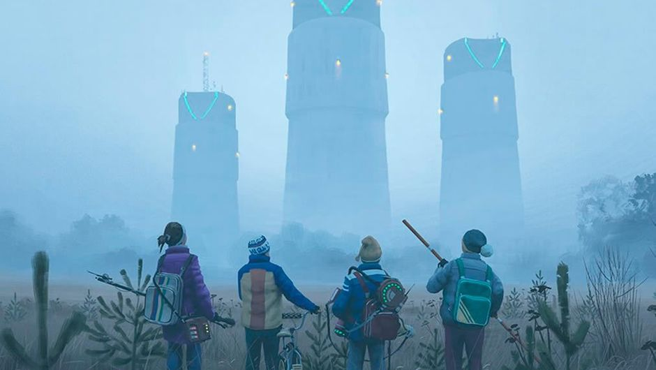 Image from Simon Stålenhag's painting book Tales From the Loop