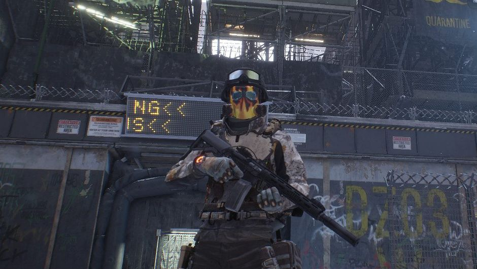 A great player in The Division is showcasing the Vulcan mask.