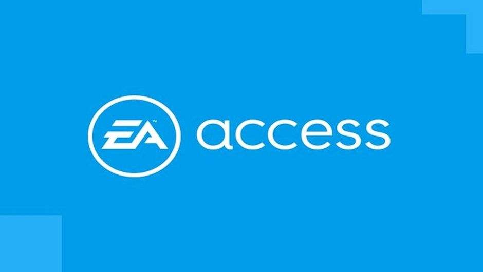 Screenshot of the EA Access logo on a light blue background.
