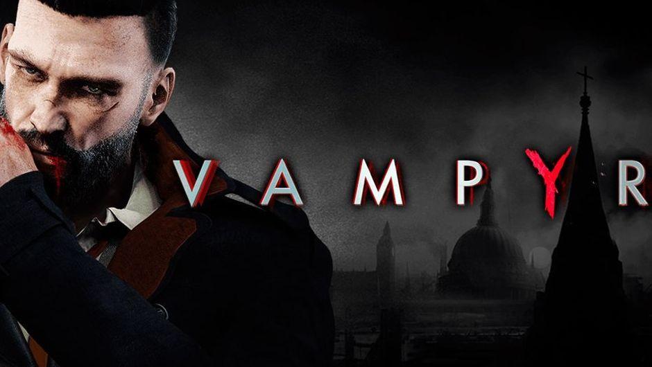 Vampyr logo and protagonist