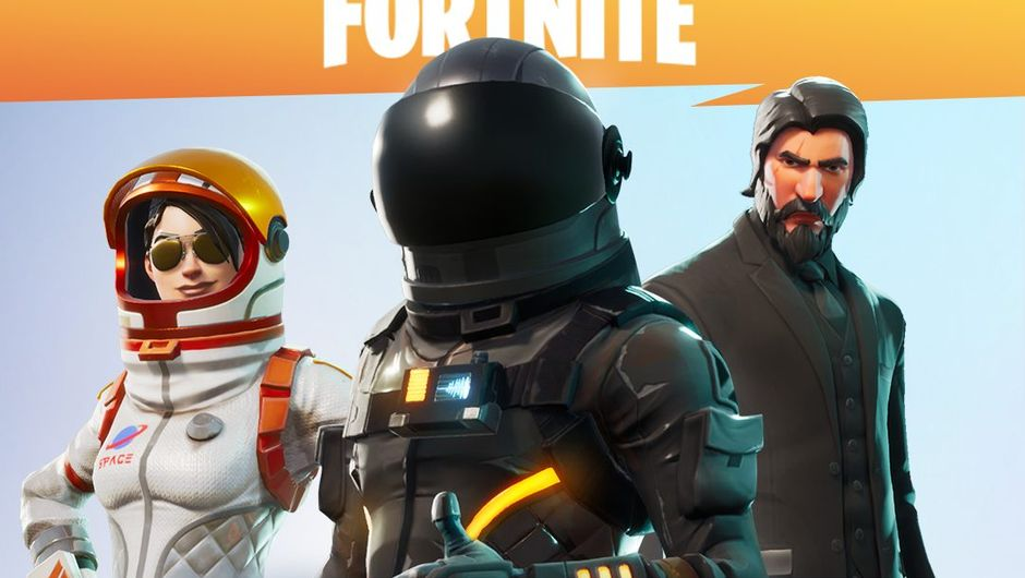A poster showing three characters from the game Fortnite Battle Royale