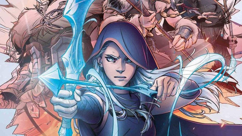 Promotional image for League of Legends comic book by Marvel