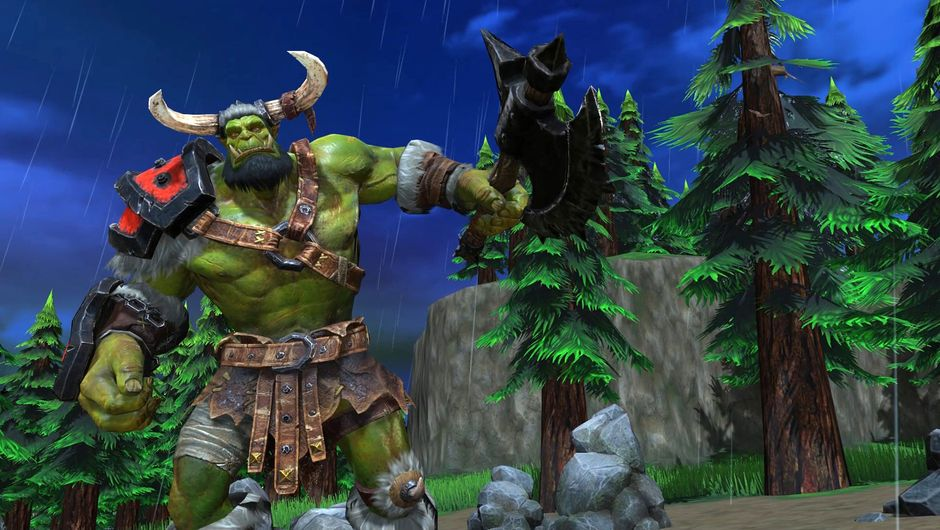 screenshot of Warcraft III: Reforged showing orc