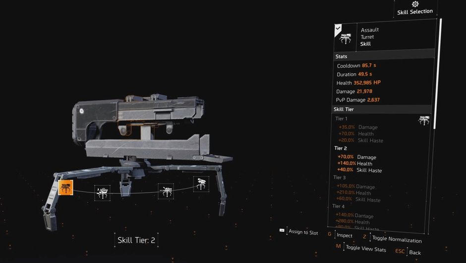 The Division 2 - Skill tiers