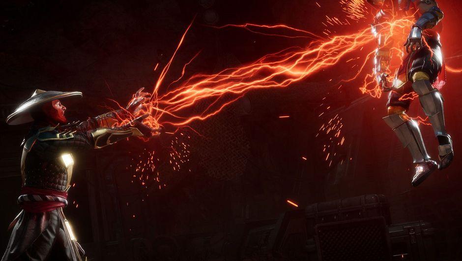 mk11 screenshot showing raiden killing scorpion