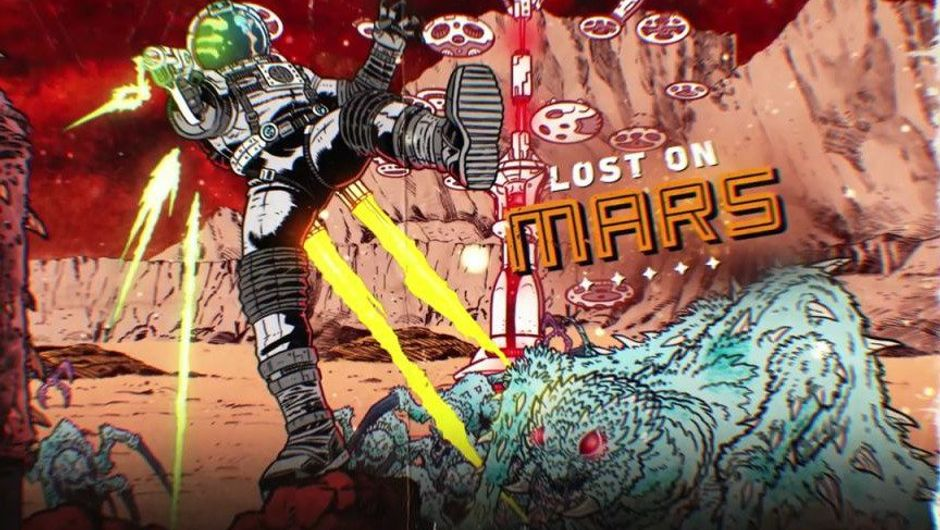 Promotional picture for the upcoming Lost on Mars DLC for Far Cry 5