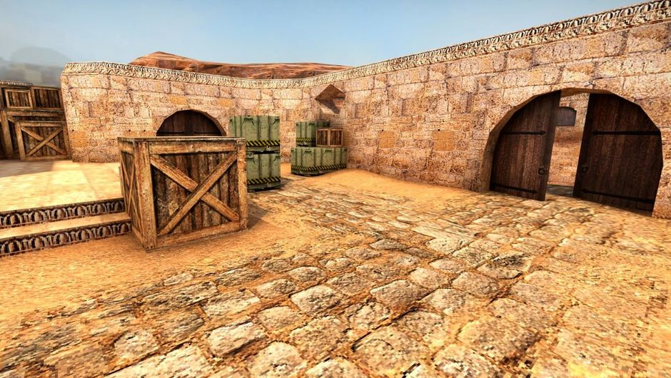 Screenshot of classic counter-strike map dust 2