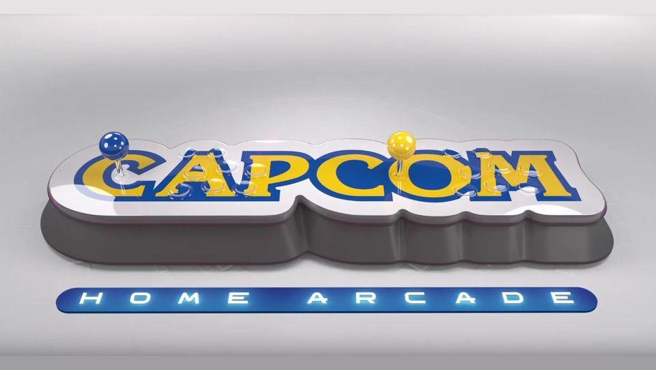 screenshot of capcom's logo for home arcade mini console