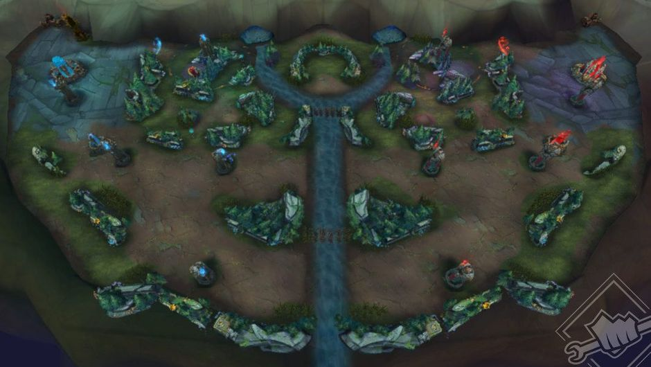 Picture of the new map made for Nexus Blitz in League of Legends